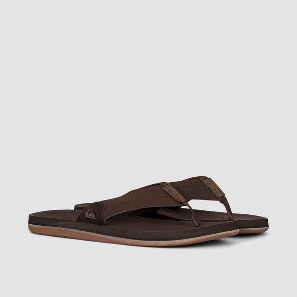 Quiksilver Coastal Oasis Leather Sandals Brown/Brown/Brown
