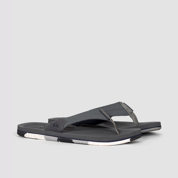 Quiksilver Coastal Oasis Leather Sandals Grey/Grey/Blue