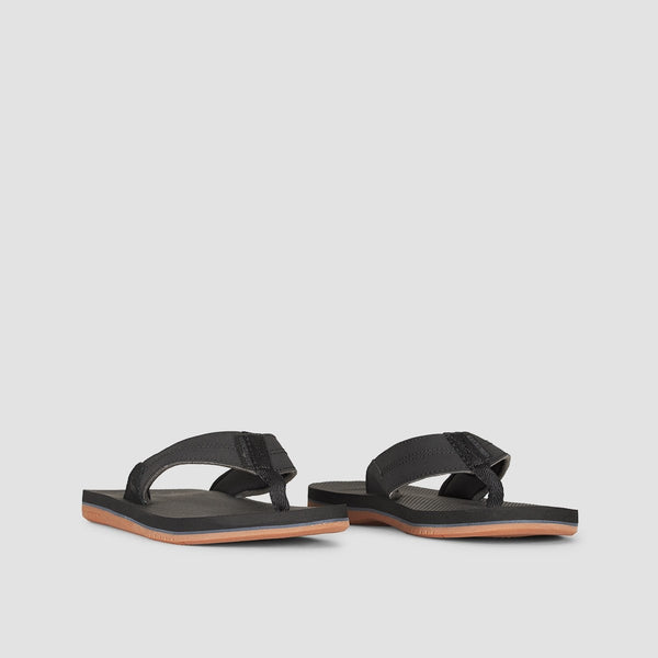 Quiksilver Coastal Oasis Slider Black/Black/Brown - Footwear