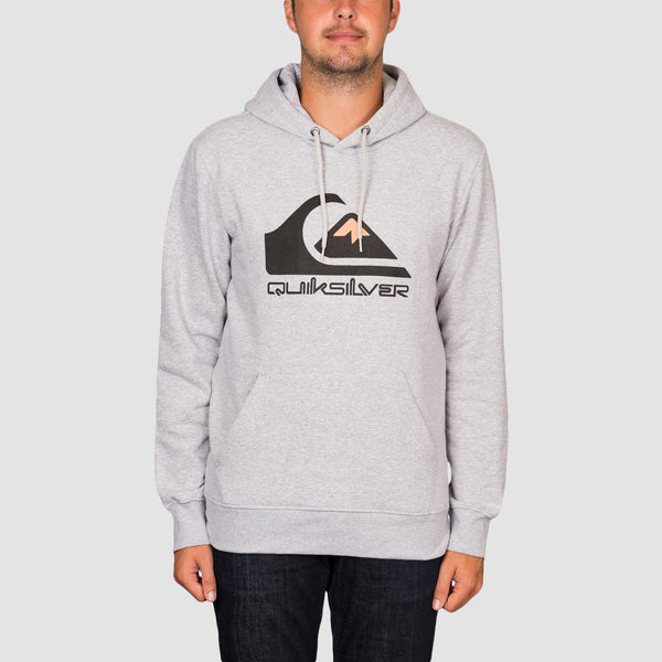 Quiksilver Comp Logo Pullover Hood Athletic Heather
