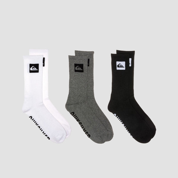 Quiksilver Crew Socks 3 Pack Assorted - Accessories