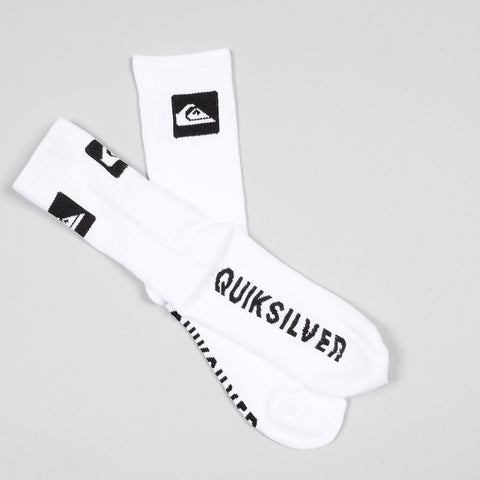 Quiksilver Crew Socks 3 Pack White - Accessories