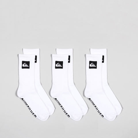 Quiksilver Crew Socks 3 Pack White
