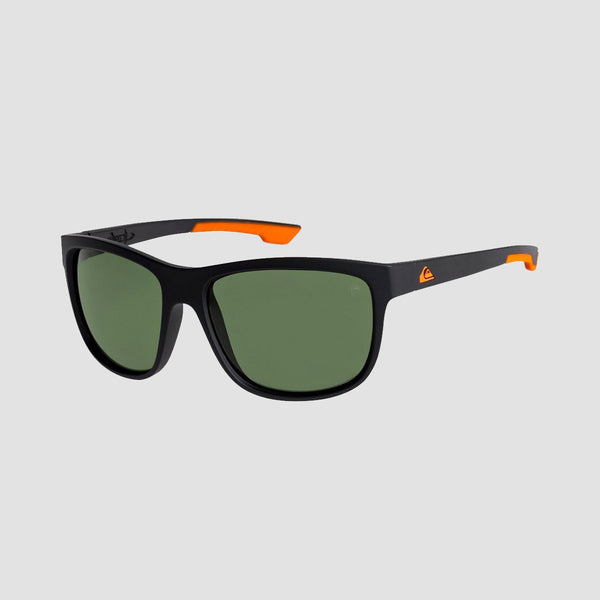 Quiksilver Crusader Floatable Sunglasses Matte Black/Green Polarised