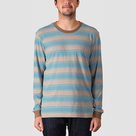 Quiksilver Double Shakka Long Sleeve Tee Crystal Teal Double Shakka