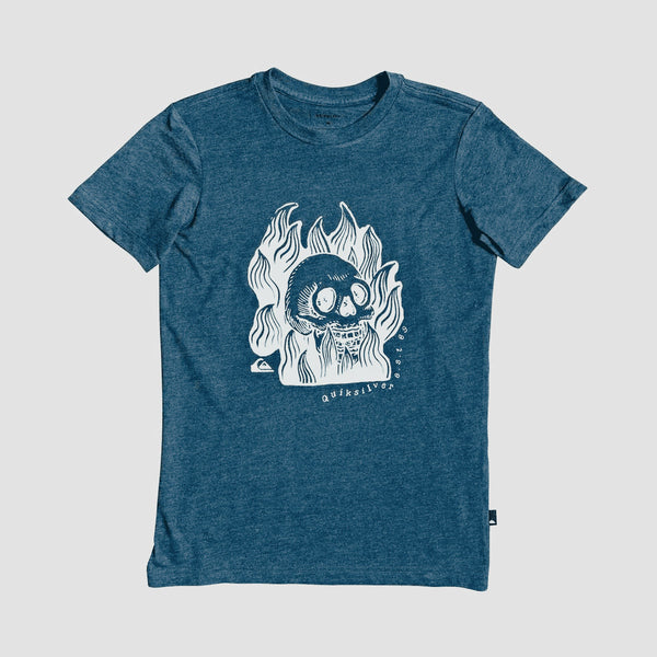 Quiksilver Drum Fire Tee Majolica Blue - Kids