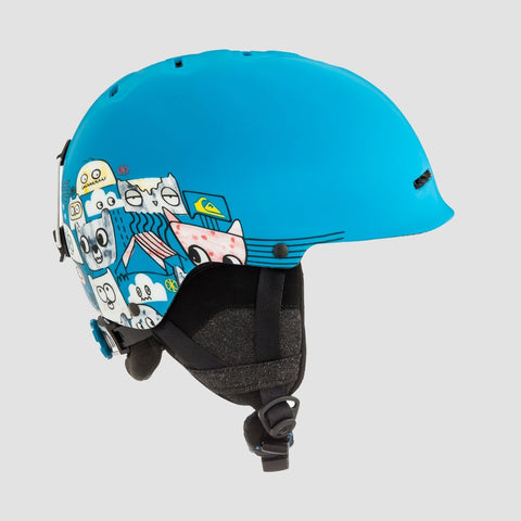Quiksilver Empire Snow Helmet Animal Part Blue - Kids - Snowboard