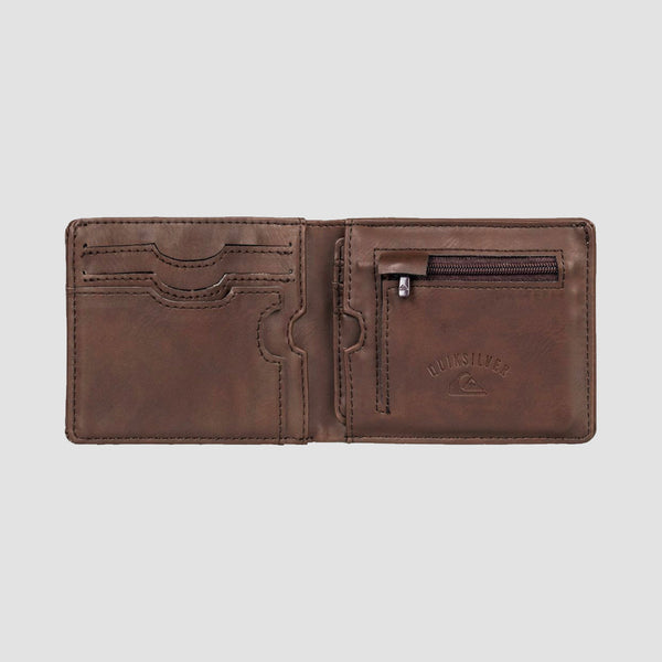 Quiksilver Exhibition Bi-Fold Wallet Chocolate Brown