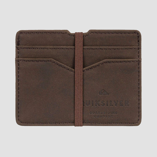 Quiksilver Floker Card Holder Chocolate Brown