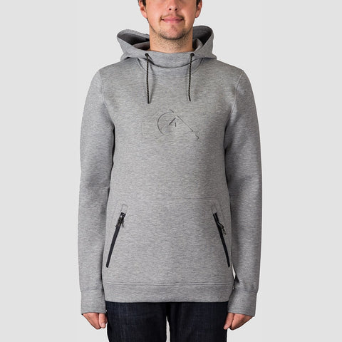 Quiksilver Freedom Tech Pullover Hood Light Grey Heather