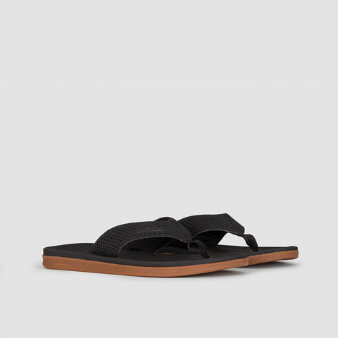 Quiksilver Haleiwa Plus Sandal Black/Black/Brown - Footwear