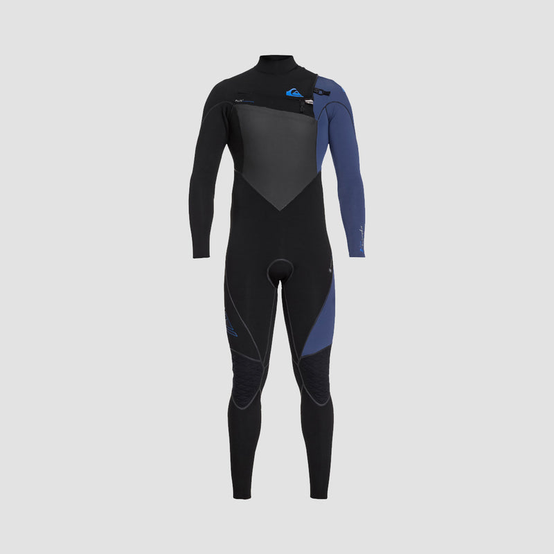 Quiksilver Highline Plus 3/2mm Chest Zip Wetsuit Black/Iodine Blue