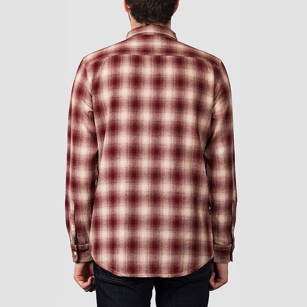 Quiksilver Inca Gold Check Long Sleeve Shirt Brazilian Sand Inca Check