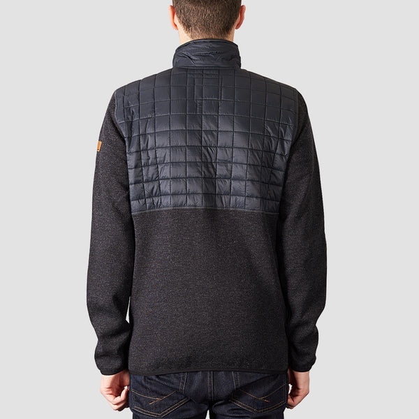 Quiksilver Into The Wild Technical Zip Up Snow Fleece Black - Snowboard