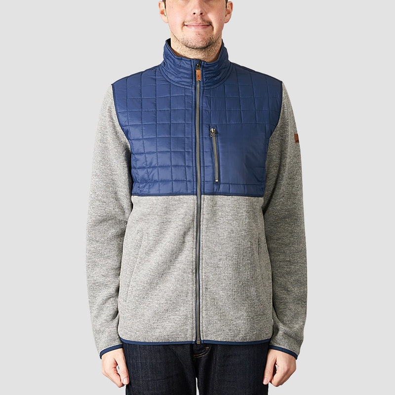 Quiksilver Into The Wild Technical Zip Up Snow Fleece Grey Heather - Snowboard
