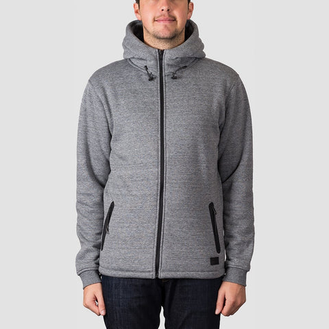 Quiksilver Kurow Sherpa Zip Hood Light Grey Heather