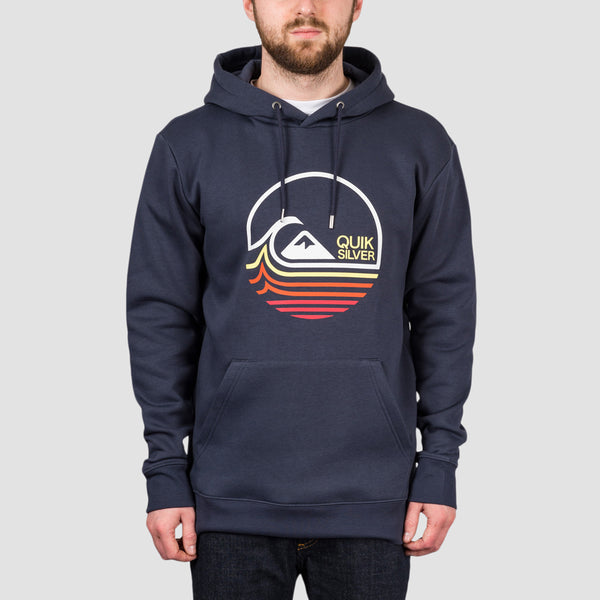 Quiksilver Lazy Mind Screen Pullover Hood Parisian Night