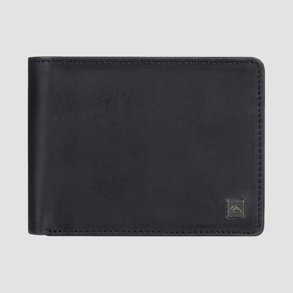 Quiksilver Mack X Leather Bi-Fold Wallet Black