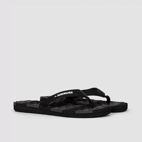 Quiksilver Massage Flip-Flops Black/Black/Grey