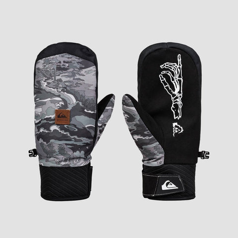 Quiksilver Method Snow Mittens Black Snowscene