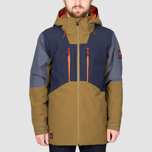 Quiksilver Mission Plus Snow Jacket Military Olive