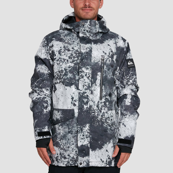 Quiksilver Mission Print Snow Jacket Castle Rock Splash