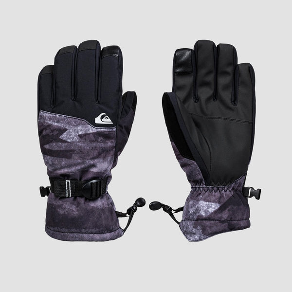 Quiksilver Mission Snow Gloves Black Matte Painting - Snowboard