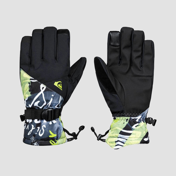Quiksilver Mission Snow Gloves Construct Black - Snowboard