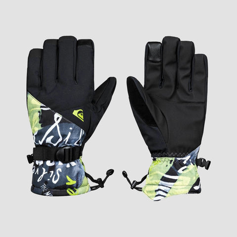 Quiksilver Mission Snow Gloves Construct Black
