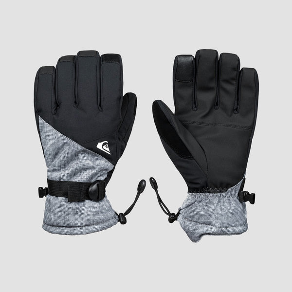 Quiksilver Mission Snow Gloves Simple Texture Grey - Snowboard