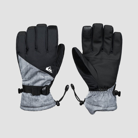 Quiksilver Mission Snow Gloves Simple Texture Grey