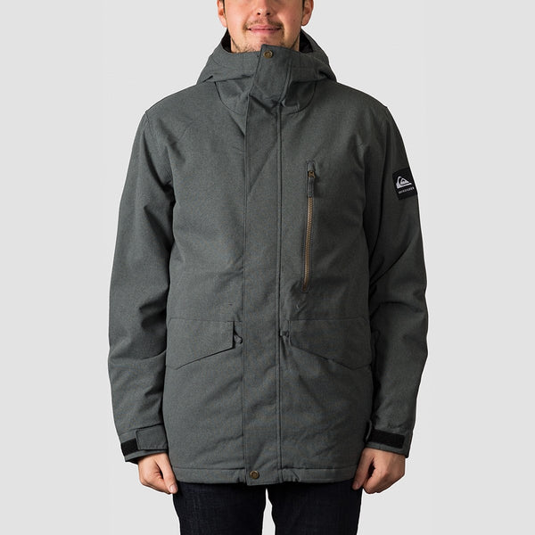Quiksilver Mission Snow Jacket Black Heather - Snowboard