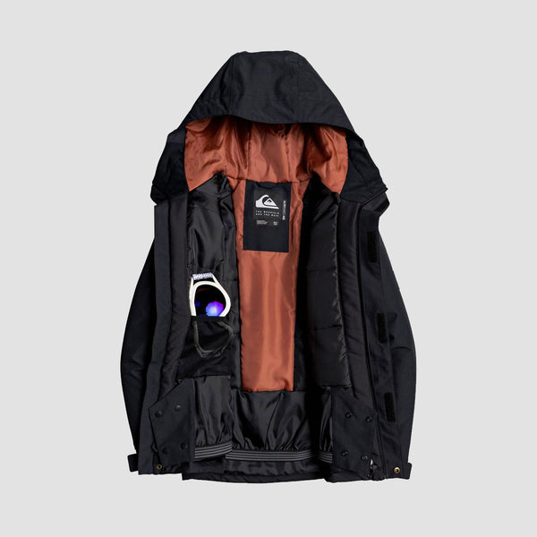 Quiksilver Mission Snow Jacket Black - Kids