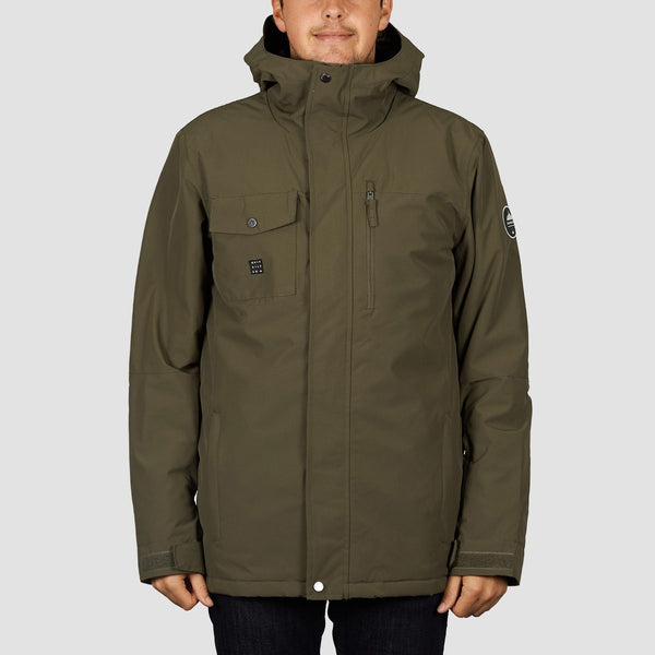 Quiksilver Mission Solid Snow Jacket Grape Leaf - Snowboard