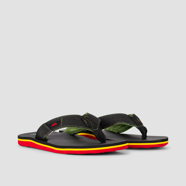 Quiksilver Molokai Abyss Sandals Green/Black/Green - Kids
