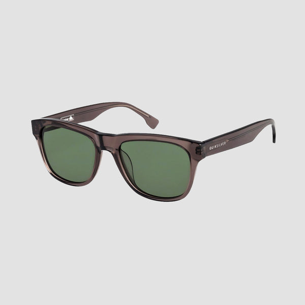Quiksilver Nasher Sunglasses Shiny Crystal Smoke/Green