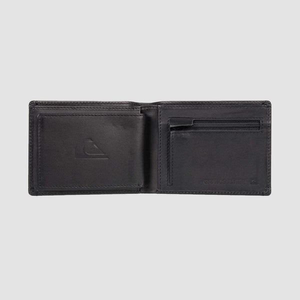 Quiksilver New Miss Dollar Leather Bi-Fold Wallet Black
