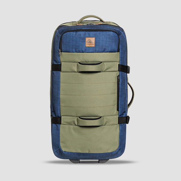 Quiksilver New Reach 100L Wheeled Suitcase Burnt Olive