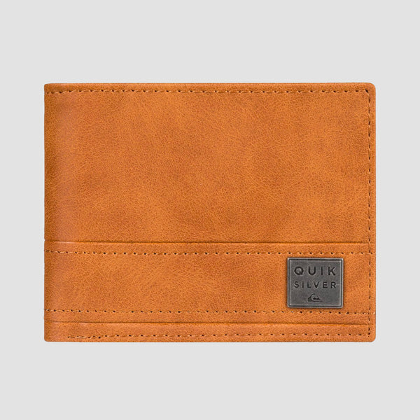Quiksilver New Stitchy Tri-Fold Wallet Brown