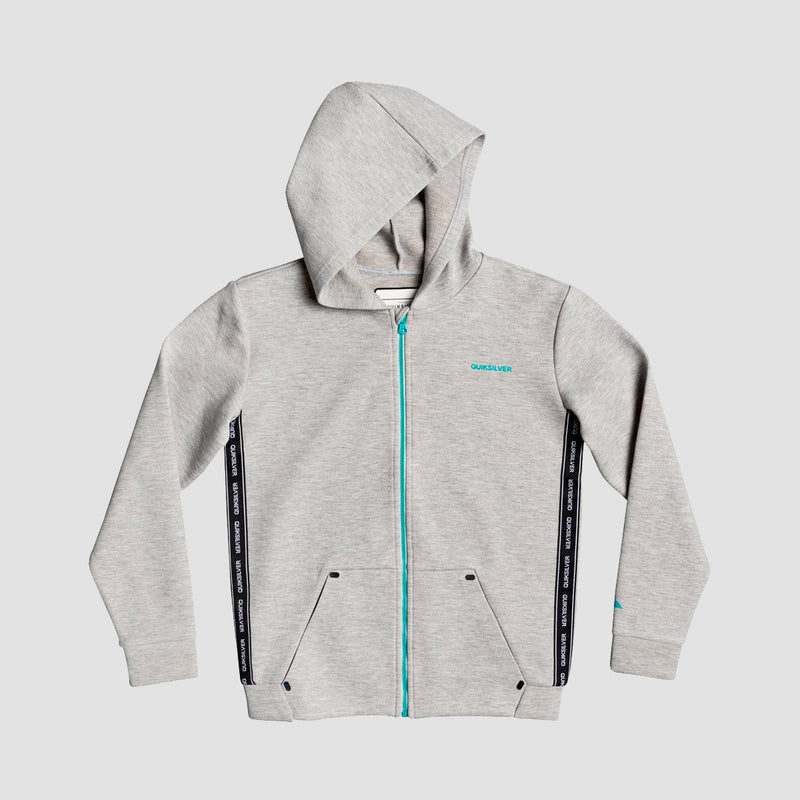 Quiksilver Ohope Carve Zip Hood Light Grey Heather - Kids