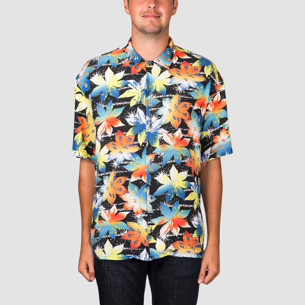 Quiksilver Originals Short Sleeve Shirt Black Star Gazer