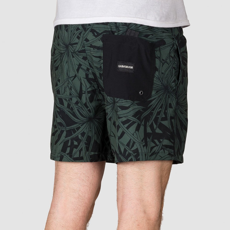 Quiksilver Pandana Stretch 16 Swim Shorts Garden Topiary - Clothing