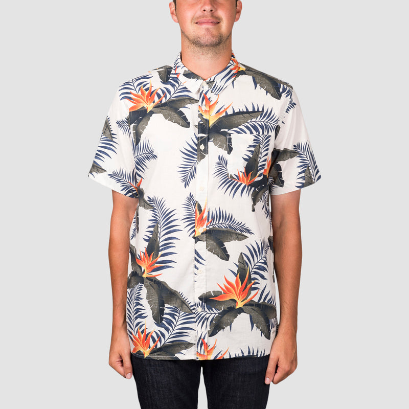 Quiksilver Poolslider Short Sleeve Shirt Snow White