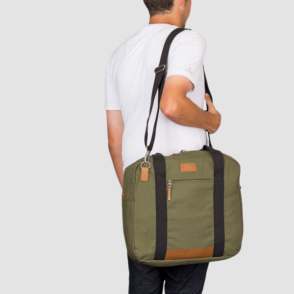 Quiksilver Premium Carrier 20L Weekend Bag Burnt Olive