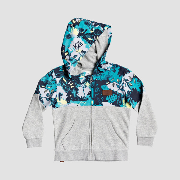Quiksilver Reeling Set Zip Hood Light Grey Heather - Kids