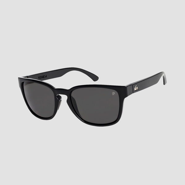 Quiksilver Rekiem Sunglasses Shiny Black/Polarised Grey