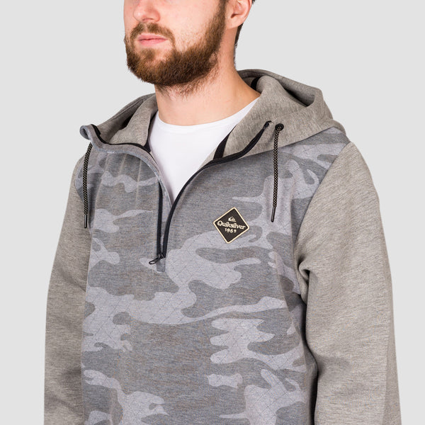 Quiksilver Shredder Snow Tech Pullover Hood True Black GPS Point