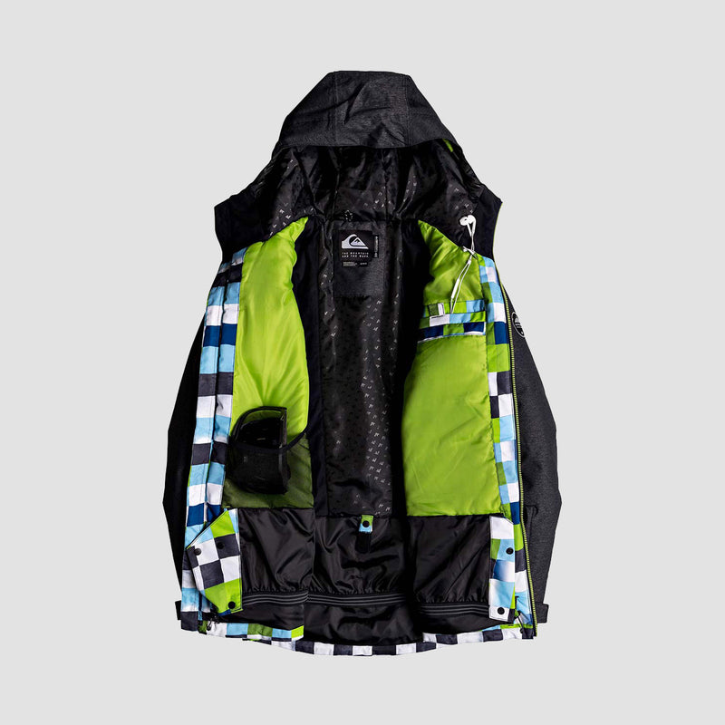 Quiksilver Sierra Snow Jacket Check Atomic Green