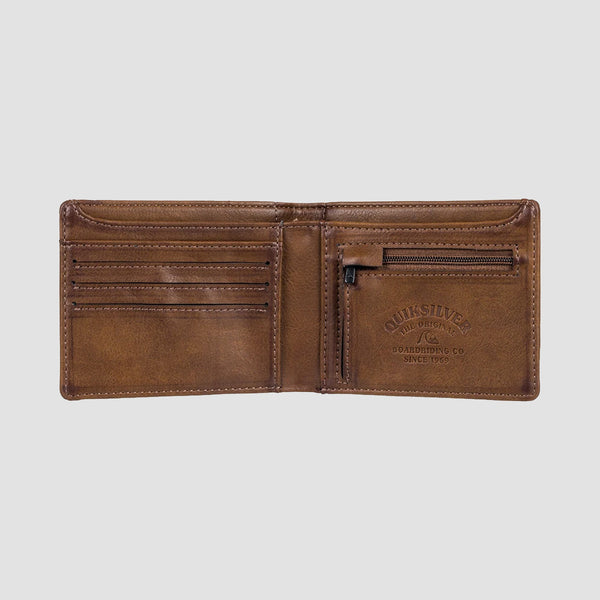 Quiksilver Slim Bi-Fold Wallet Chocolate Brown