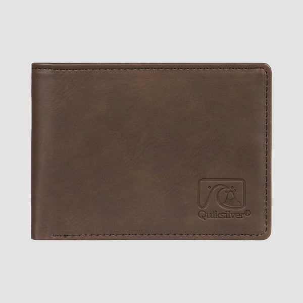Quiksilver Slim Vintage Bi-Fold Wallet Chocolate Brown
